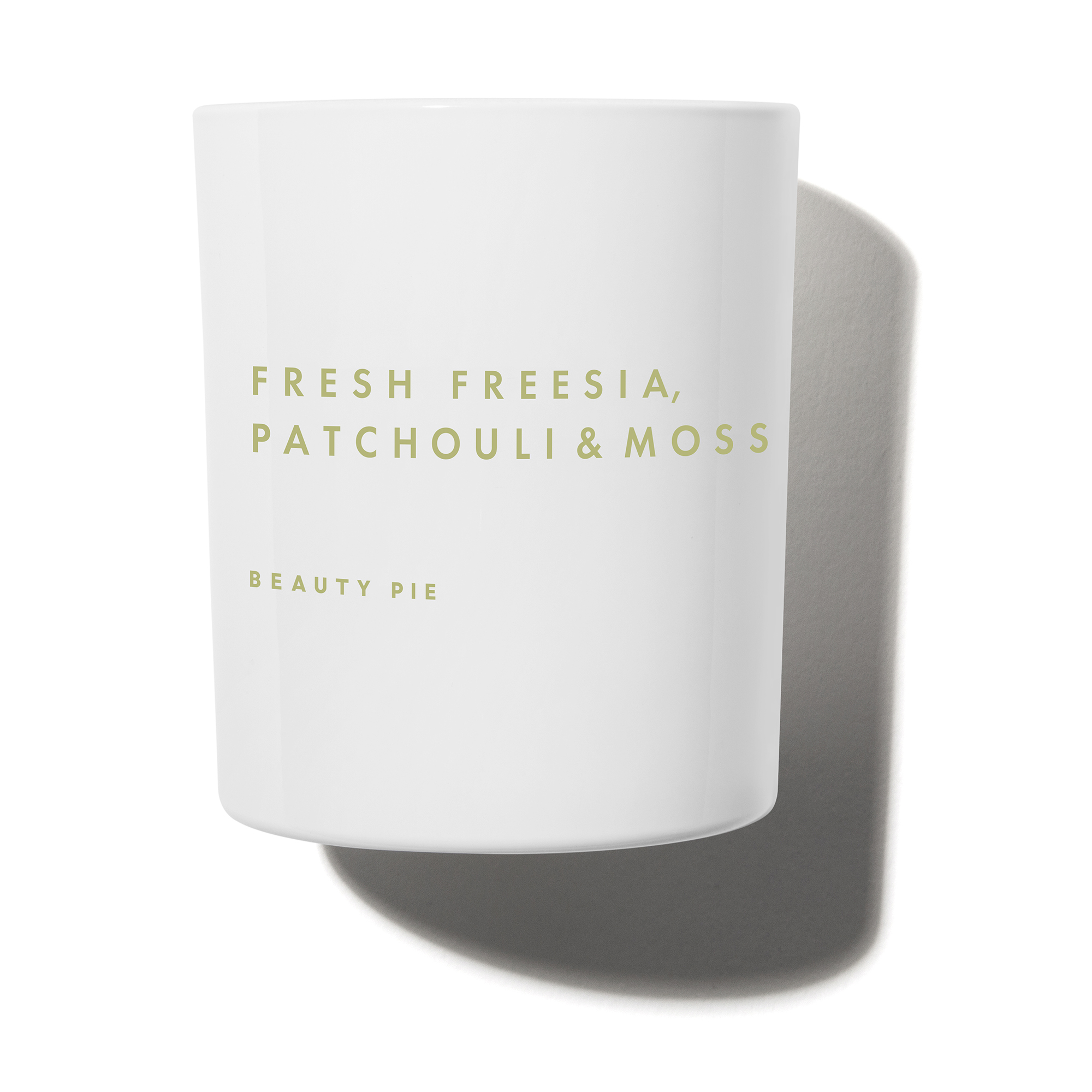 Fresh Freesia Patchouli & Moss Luxury Scented Candle by Beauty Pie