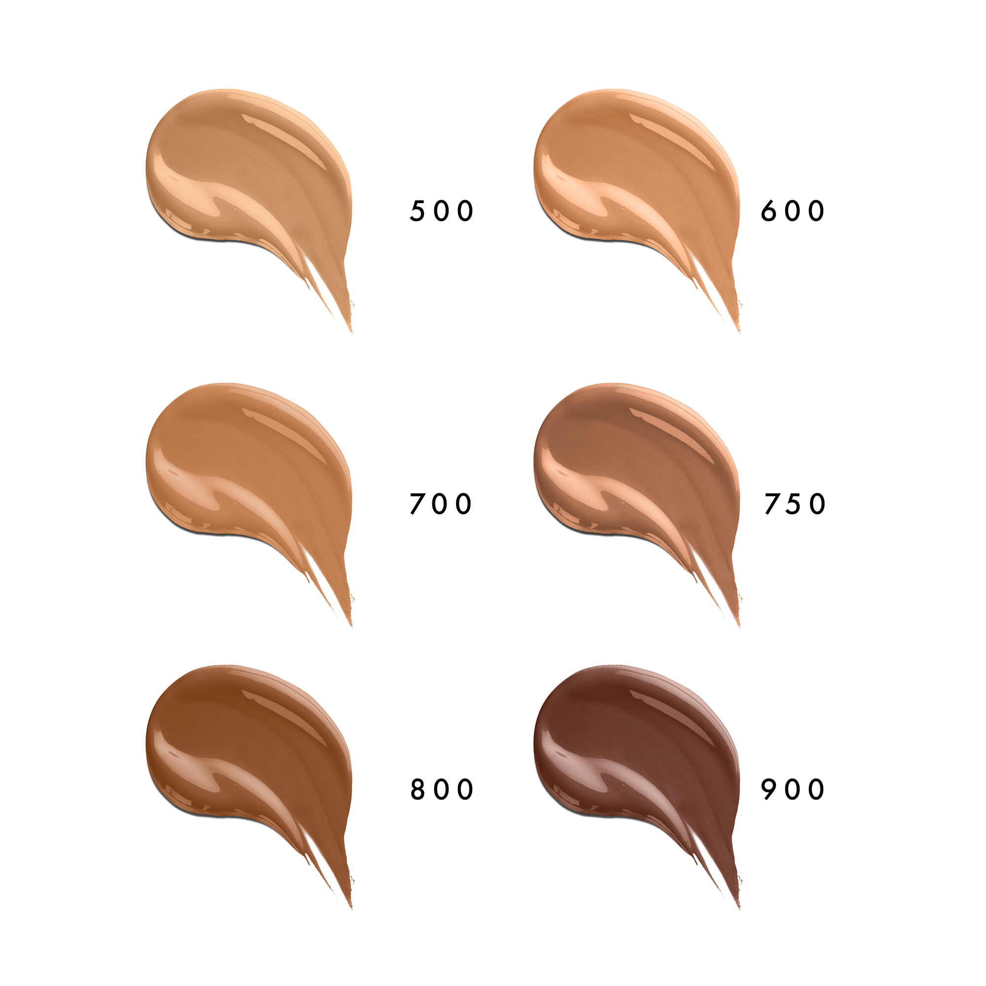Everyday Great Skin Foundation Six Sample Set in Deep by Beauty Pie