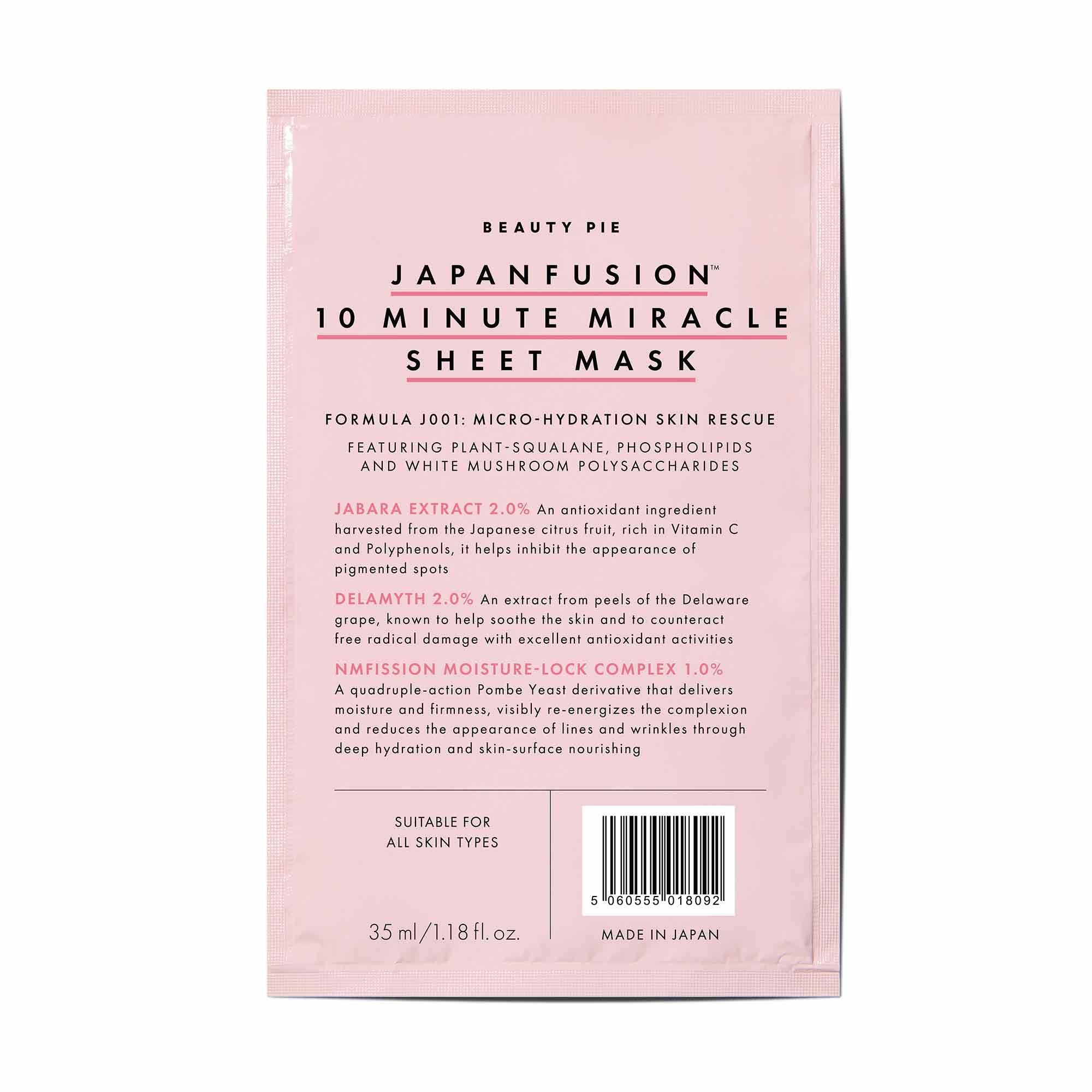 Japanfusion™ Miracle Sheet Mask | Beauty Pie