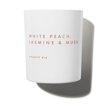 White Peach, Jasmine & Musk Luxury Scented Candle