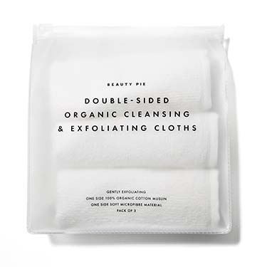 Double-Sided Organic Cleansing & Exfoliating Cloths