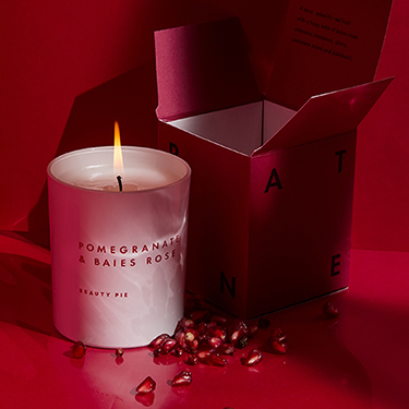 Pomegranate & Baies Rose Luxury Scented Candle by Beauty Pie