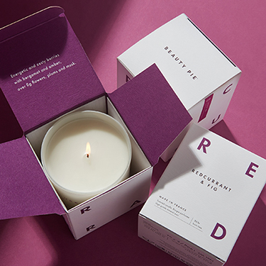 Redcurrant & Fig Luxury Scented Candle by Beauty Pie