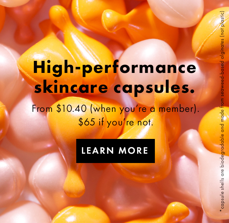 High-performance skincare capsules
